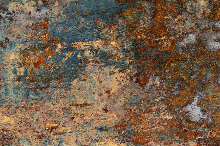 Colored texture of old and rusty metal