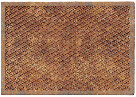 Old rusty metal plate isolated on white