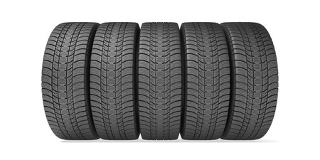 tire: Winter tires isolated on the white background