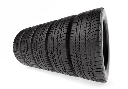 winter tires: Winter tires isolated on the white background