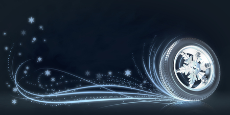 Background with ar winter wheel 스톡 콘텐츠