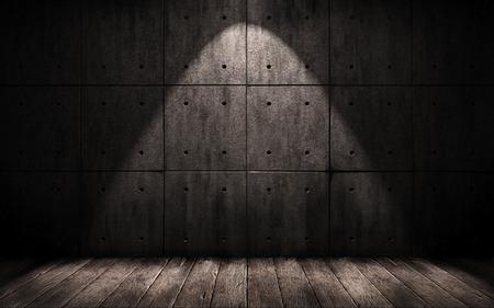 penumbra: grunge industrial background, a dark underground room Stock Photo