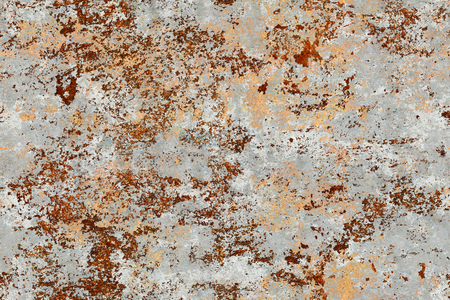 oxidized: Seamless grunge and rusty texture and background Stock Photo