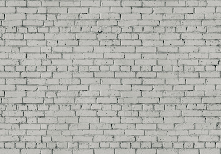 brick: painted in white brick wall, background, seamless texture Stock Photo