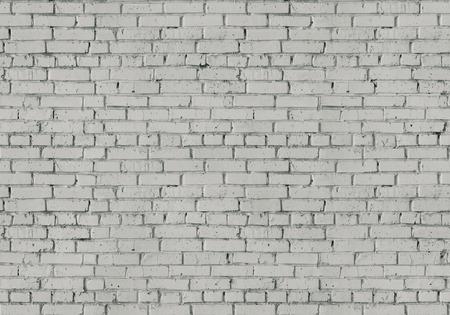 white brick: painted in white brick wall, background, seamless texture Stock Photo