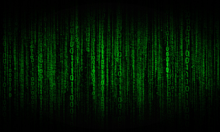 abstract background with green digital lines, cyberspace Stock Photo