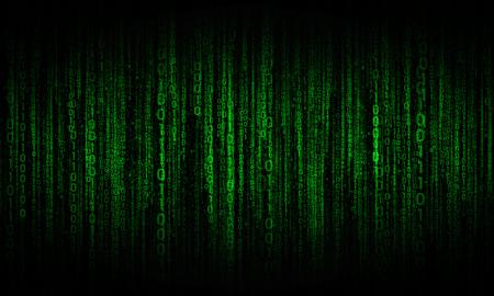 fond abstrait avec des lignes numériques vertes, le cyberespace