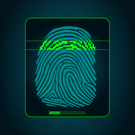 biometric: the system of fingerprint scanning - biometric digital security devices, access