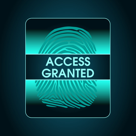 granted: result of the fingerprint scan access is granted, security, data protection, access