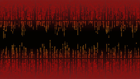 Abstract with digital lines, binary code, matrix background with digits, frame Illustration