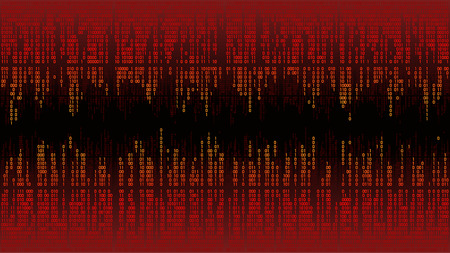 Abstract with digital lines, binary code, matrix background with digits, frame. High-tech computer digital with red digital lines