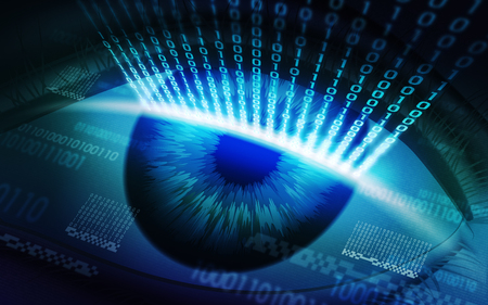 The scanning system of the retina, biometric security devices, access