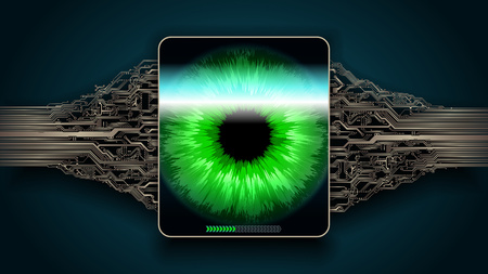 Retina scanning - digital security system, access