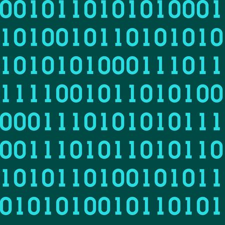 抽象バイナリコード、デジタルマトリックスの背景を持つシームレスなパターン  イラスト・ベクター素材
