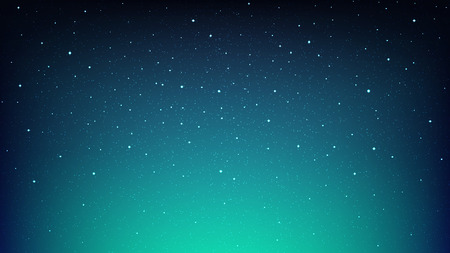 Night shining starry sky, blue space backDROP with stars Stock Illustratie