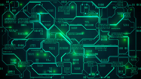 Abstract futuristic electronic circuit board design.