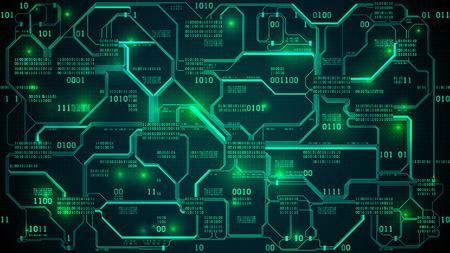 Abstract futuristic electronic circuit board design.