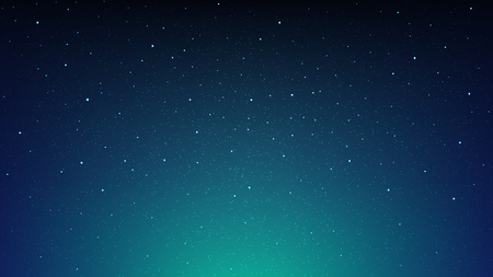 Night shining starry sky, cosmos, blue space background with stars