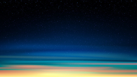 Evening shining starry sky, night cosmic background with stars, space, sunset sky