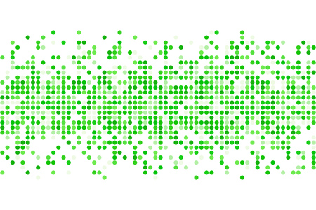 Abstract green spring summer mosaic - vector background from circles with copy space