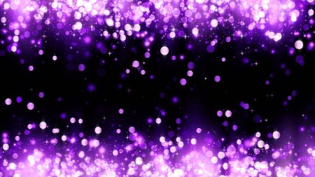 Background with magenta glitter particles. Beautiful holiday purple background template for premium design. Bright magenta particle with magic light Stockfoto
