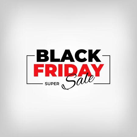 Black friday banner design. Special offer price sign. Black friday sale flyer. Vector web banner. Design promotion modern poster on white background Stockfoto - 134402640