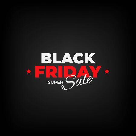 Black friday sale flyer. Black friday banner design. Special offer price sign. Design promotion modern poster on dark background. Vector illustration Stock Illustratie