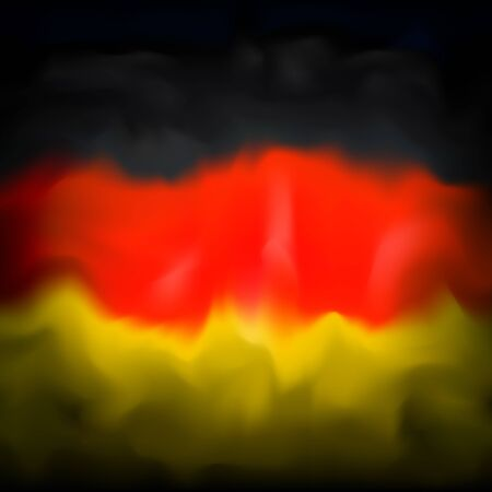 Abstract flag of germany background for creative design. Graphic abstract background. German patriotic vector, template. Watercolor drawing. Germany flag banner design