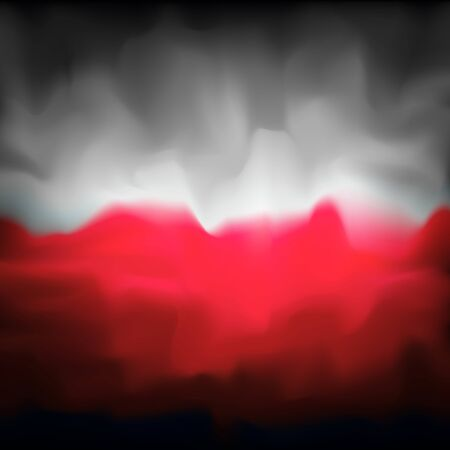 Poland abstract flag background for creative design. Graphic abstract dark background. Polish flag color texture. Nation patriotic template. Polish vector flag banner design Çizim