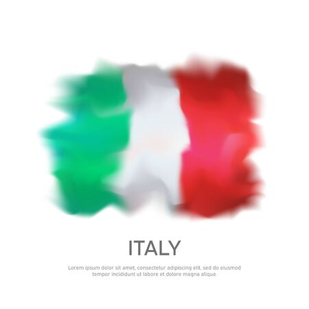 Abstract Italy flag for national holiday creative poster design. Italian flag on a white background. Banner design. Graphic abstract background. Nation patriotic template, vector