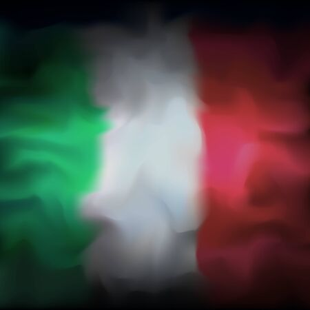 Italy abstract flag background for creative design. Graphic abstract dark background. Italian flag color texture. Nation patriotic template. Italian vector banner design Ilustração