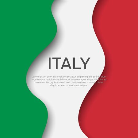 Abstract waving italy flag. Creative background for Italy holidays postcard design. Business booklet. Paper cut style. Graphic background for poster. Vector illustration of the italian flag. Banner Stock fotó - 149998484