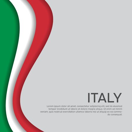 Abstract waving italy flag. Paper cut style. Creative background in Italy flag colors for holiday card design. National Poster. State Italian patriotic cover, business booklet, flyer. Vector design Stock fotó - 149998489