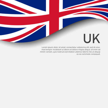Great Britain flag on a white background. National poster of the united kingdom. Great britain state patriotic cover, banner. UK flag pattern. Vector design