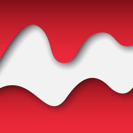 Abstract waving flag austria. Paper cut. Creative background for design card of the Austrian patriotic holiday. Graphic abstract background for a poster. Vector illustration of austrian flag. Banner