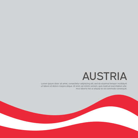 Abstract waving flag of austria. Creative background for the design of the patriotic holiday card of Austria. National Poster. Paper cut style. Austrian business booklet, flyer. Vector design 免版税图像 - 151144600
