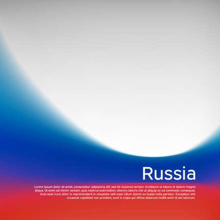 Russia flag background. Blurred pattern in the colors of the russian flag, business booklet. National banner, poster of russia. State russian patriotic cover, flyer. Vector tricolor design Ilustração