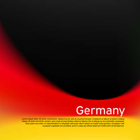Blurred pattern in the colors of the german flag. Germany flag background. National poster, banner of germany. State german patriotic cover, flyer, business booklet. Vector tricolor design 免版税图像 - 151144606