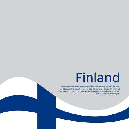 Finland flag background. Finland flag on a white background. National poster design. State finnish patriotic banner, flyer. Business booklet. Vector illustration