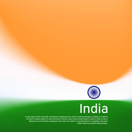 Abstract blurred pattern in india flag colors. Creative background for holiday card design. Indian patriotic poster. Vector illustration of a stylized indian flag. Cover business booklet, banner
