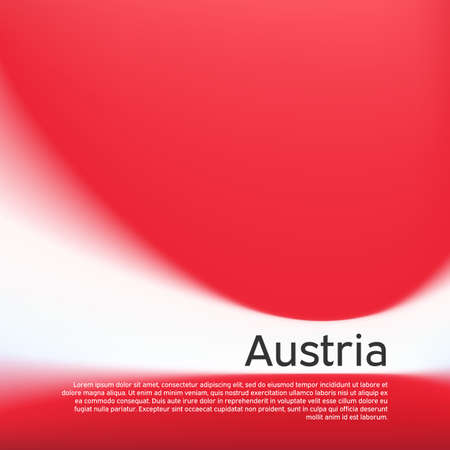 Blurred pattern in the colors of the austrian flag. Austria flag background. National poster, banner of austria. State austrian patriotic flyer, cover, business booklet. Vector design 일러스트