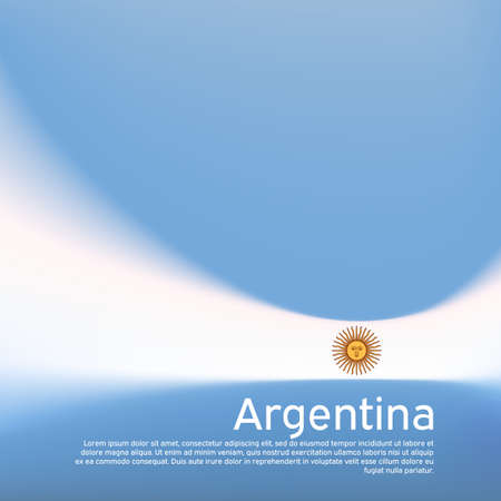 Abstract blurred pattern in argentina flag colors. Argentinean patriotic banner. Creative background for holiday card design. Cover business booklet.