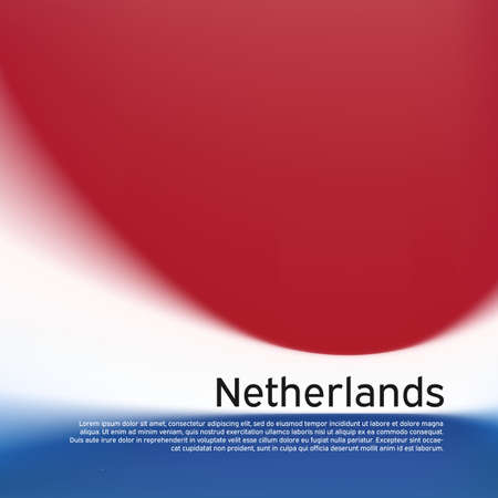 Blurred pattern in the colors of the dutch flag. Netherlands flag background. National poster, banner of the netherlands. State dutch patriotic cover, flyer, business booklet. 일러스트