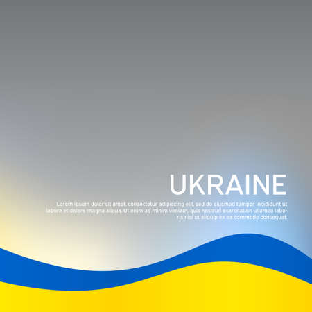 Abstract waving flag of ukraine. Creative background for patriotic holiday card design. National Poster. Cover, banner in state colors of Ukraine.
