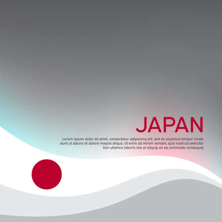Cover, banner in the colors of japan. Background - japan wavy flag. Japanese flag design for business booklet, flyer, cover, poster