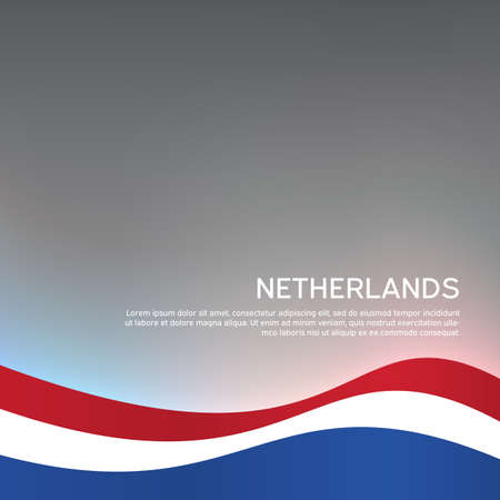 Abstract waving flag of netherlands. Creative background for patriotic holiday card design. National Poster. Cover, banner in state colors of the Netherlands. Vector tricolor design 일러스트
