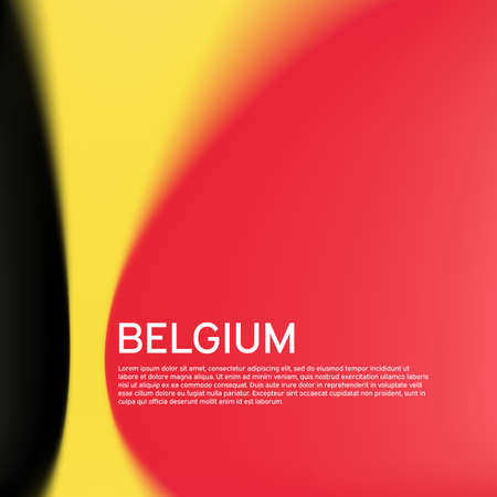 Belgian flag background. Blurred pattern in the colors of the belgian flag. National poster, belgium banner. State patriotic poster, flyer, business booklet. Vector tricolor design 일러스트