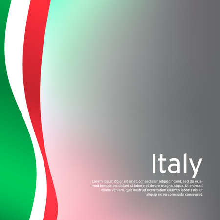 Abstract waving italy flag. Creative background in Italy flag colors for holiday card design. National Poster. State Italian patriotic cover, business booklet, flyer. Vector tricolor design 일러스트