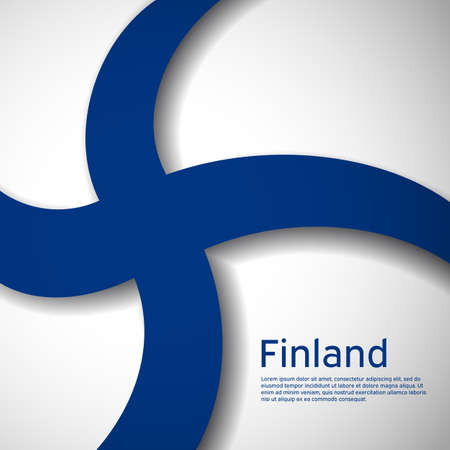 Finland flag background. Business booklet. National poster design of Finland. Paper cut style. State Finnish patriotic banner, flyer. Vector illustration 일러스트