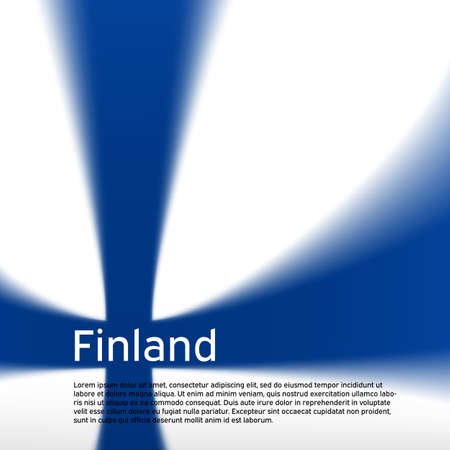 Finland flag background. Blurred pattern in the colors of the finnish flag. National poster, banner of finland. State cover, business booklet, flyer. Vector design
